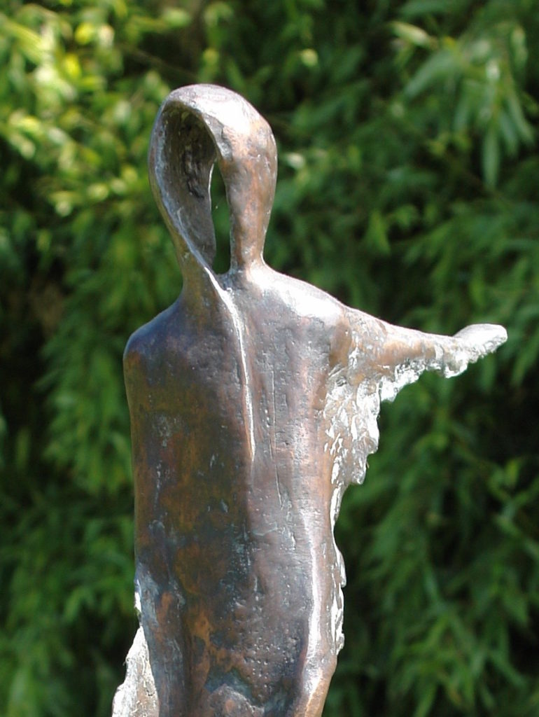 """Sculpture """"Two-faced time"""""""